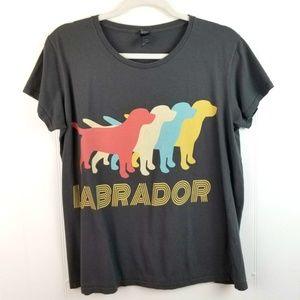 Women's Graphic Labrador Dog Tee Shirt Lab